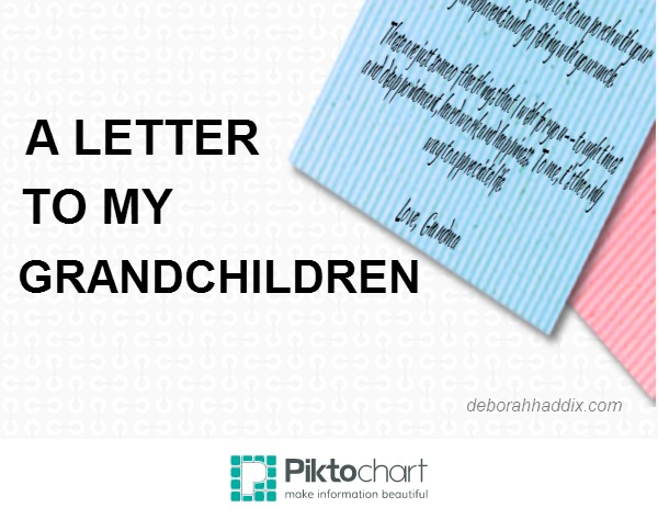 letter to my grandchildren essay A letter to my grandchildren dear grandchildren, there have been a few changes since you were born in the 1980s one major change is that there are more of us now.