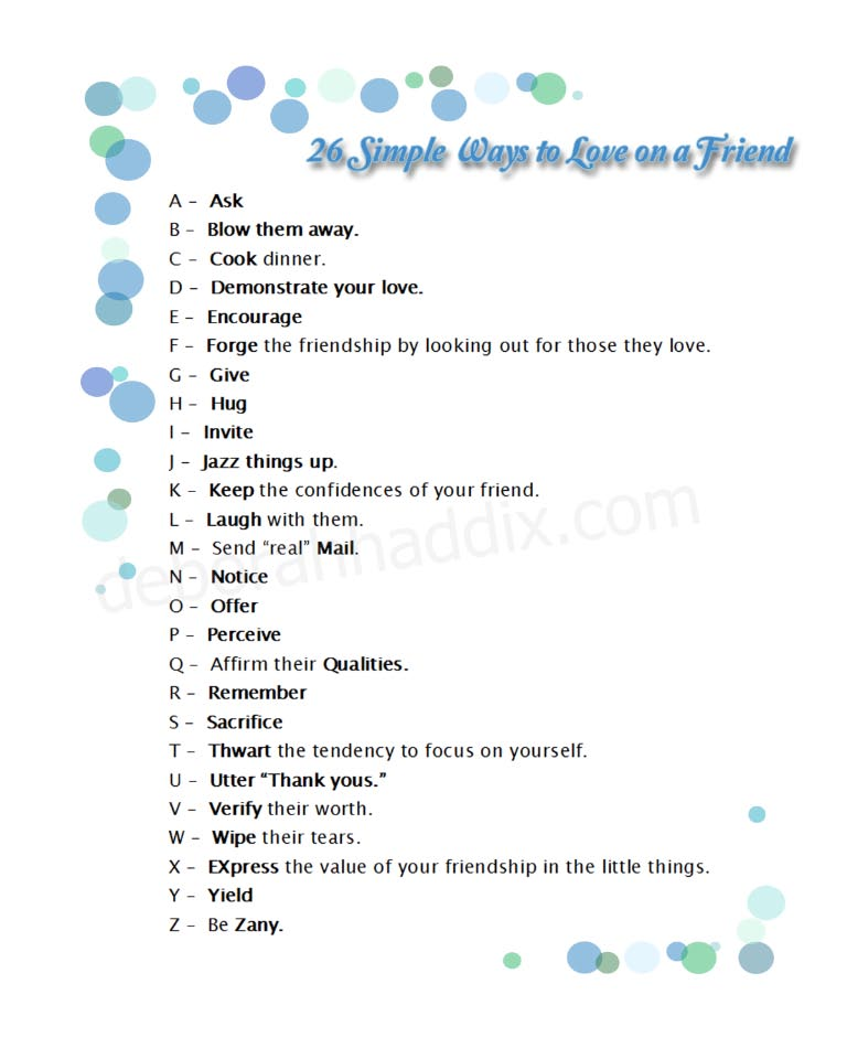 26 Simple Ways to Love on a Friend