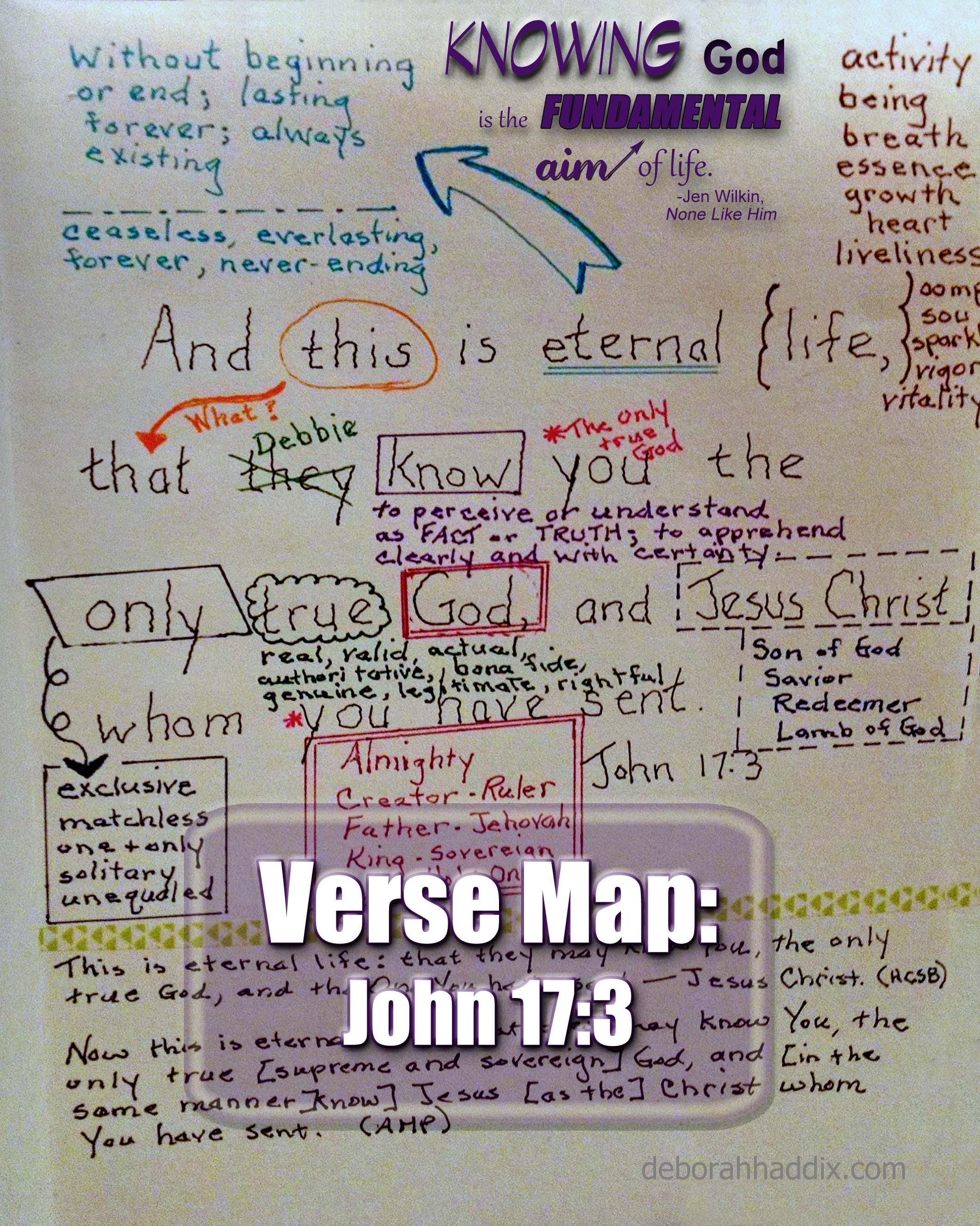 John 17:3 – A Verse Map