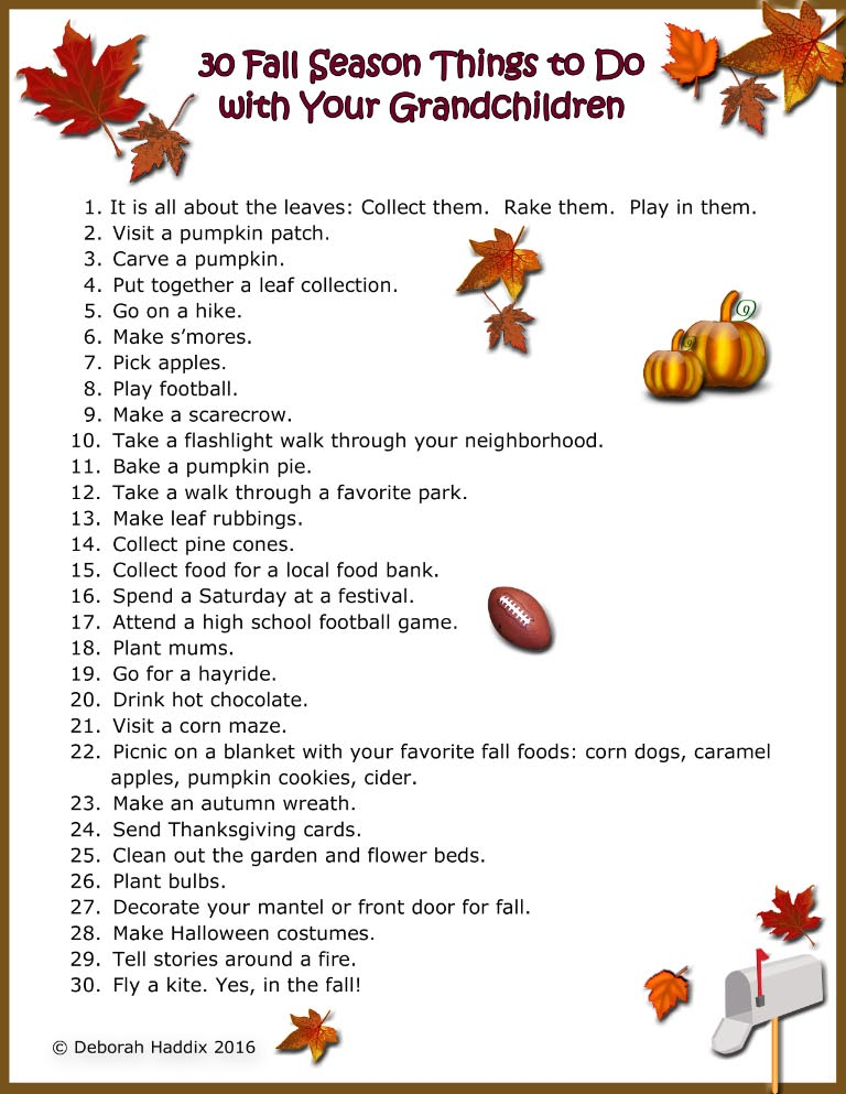 30 Fall Season Things to Do with Your Grandchildren