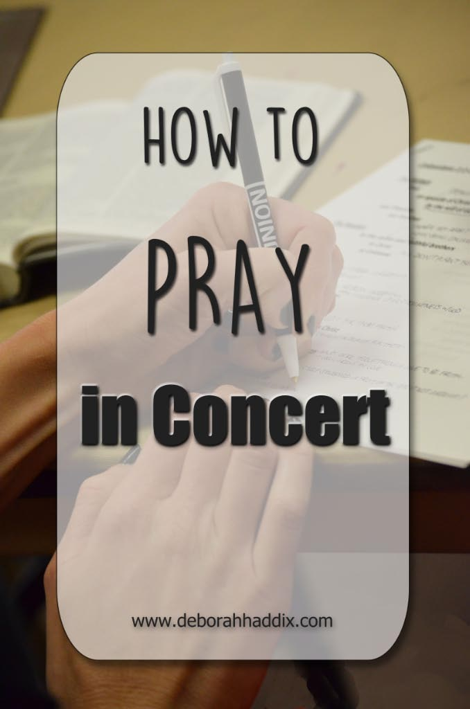 How to PRAY IN CONCERT