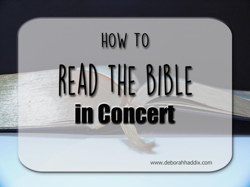 How to READ THE BIBLE IN CONCERT